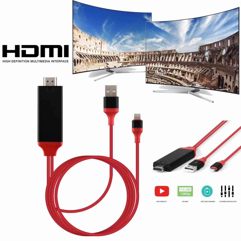 Lightning To HDMI /HDTV Cable Digital AV Adapter for iPhone