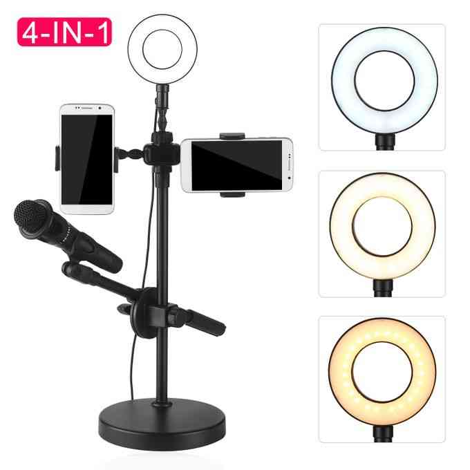 product_image_name-Generic-Selfie Ring Light with Phone Holder and Microphone Stand 3-1
