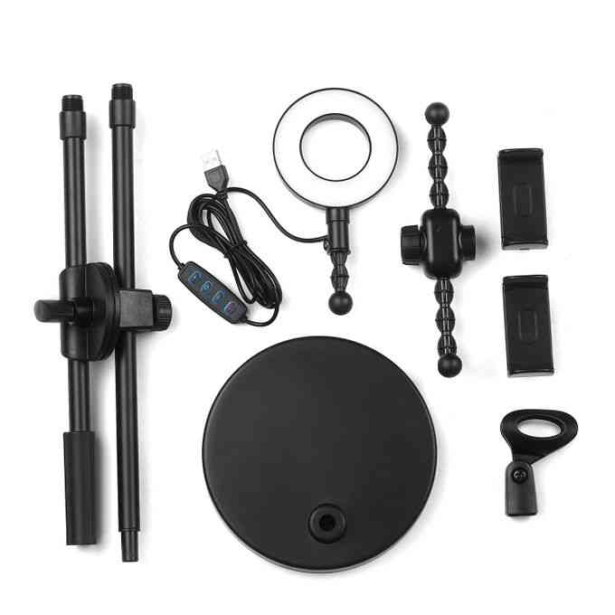 product_image_name-Generic-Selfie Ring Light with Phone Holder and Microphone Stand 3-2