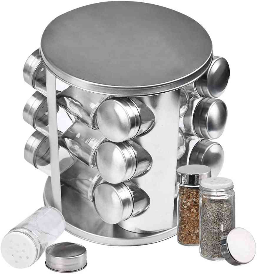 Stainless Steel Spice Rack 12pcs