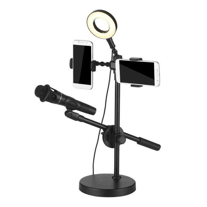 product_image_name-Generic-Selfie Ring Light with Phone Holder and Microphone Stand 3-7