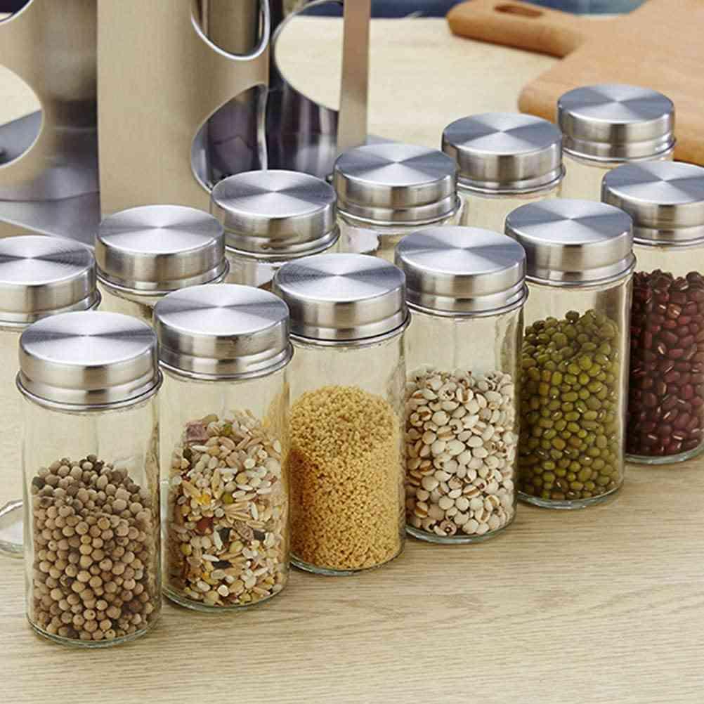 Steel Spice Rack Storing glass Jar sri lanka