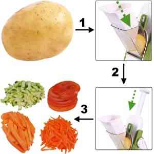 Multi Function Food Cutter - from raw onions to finely chopped onions