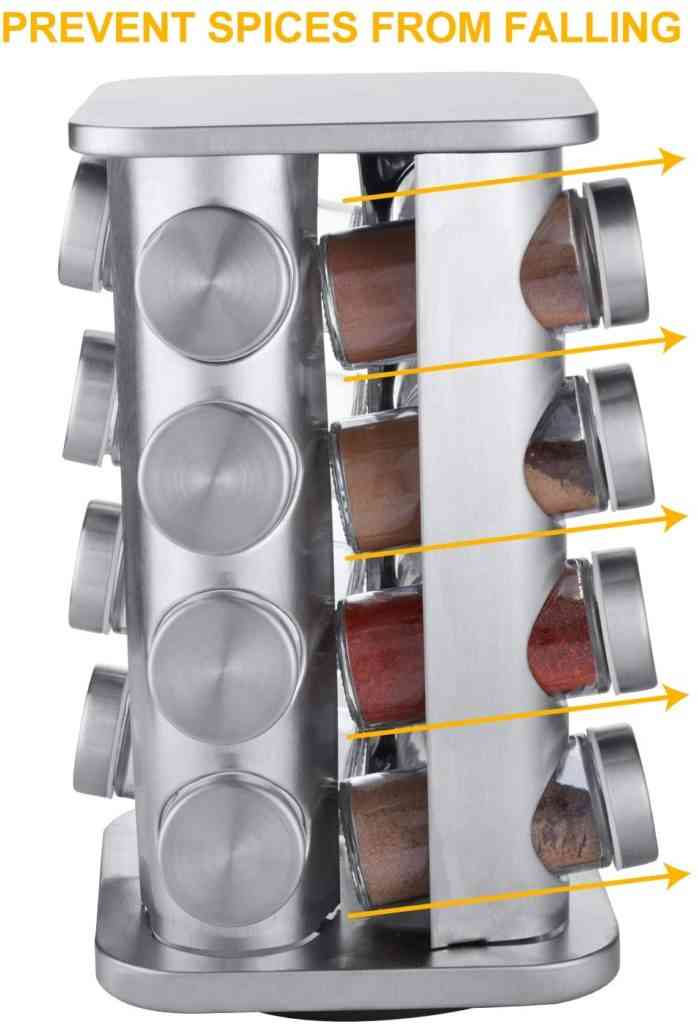 Stainless Steel Spice Rack 16pcs Sri Lanka