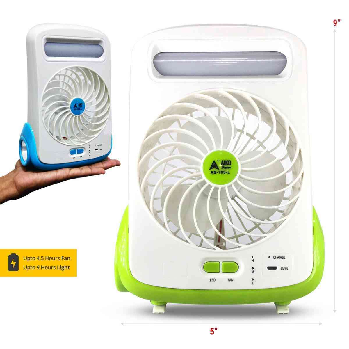 Aiko Fan with torch