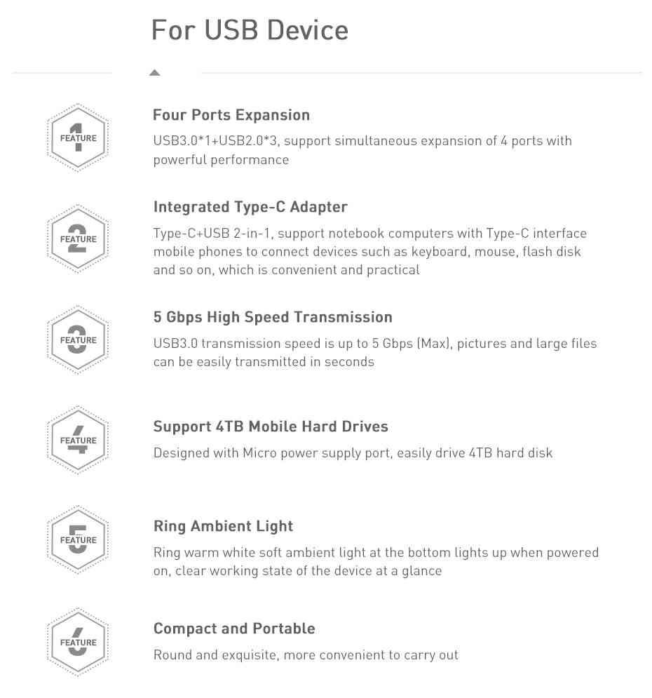 Baseus USB HUB C HUB to Multi USB 3.0 1M