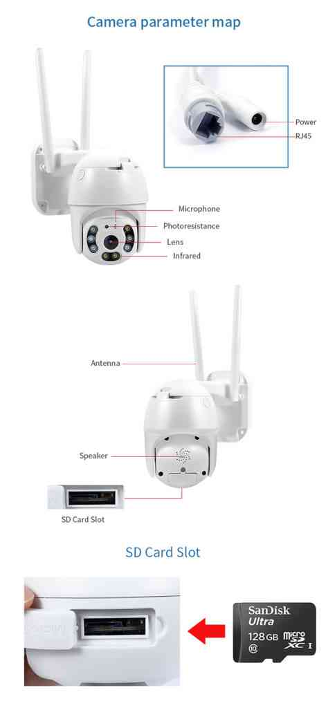 HD 1080P wifi ip camera outdoor waterproof dome wireless network cctv security camera support two way audio