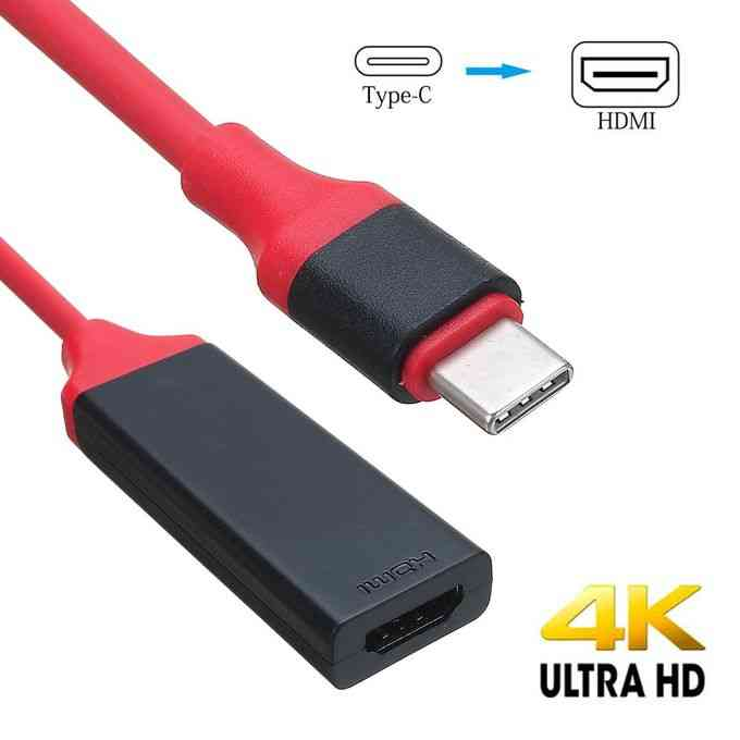 product_image_name-Generic-USB Type C Male To Female HDMI Cable Adapter HDTV For Samsu-1