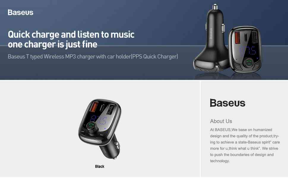 BASEUS Wireless MP3 Charger