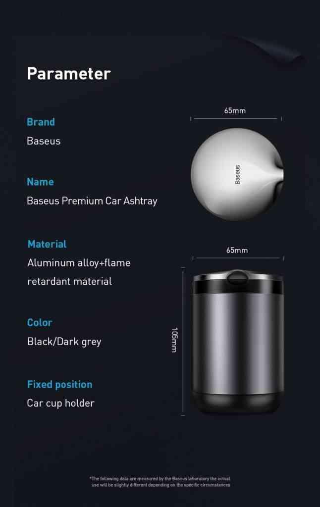 Baseus Portable Car Ashtray