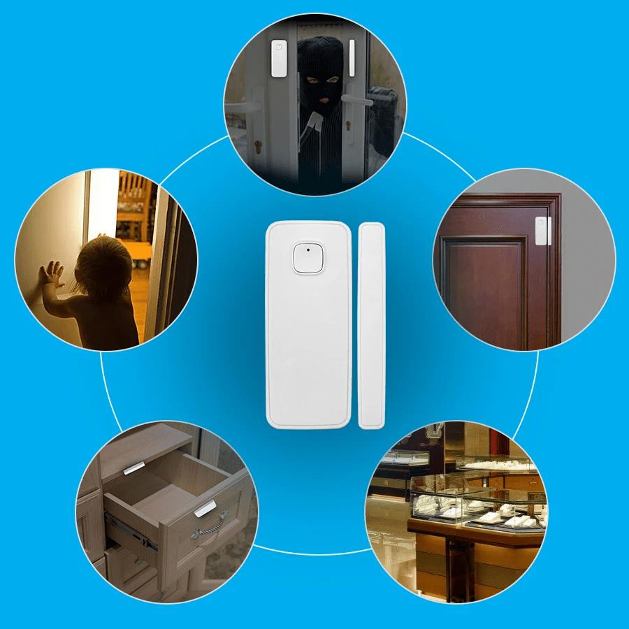 "Smart WIFI Door Window Sensor Open / Closed Detector Wireless Alarm Home #smarthouse #homeappliances "" #homeaccessorie… | Smart wifi, Home security, Best smart home"