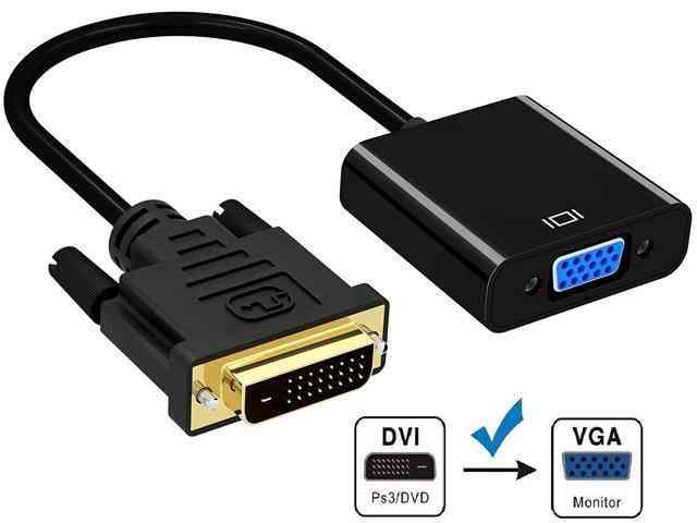 CORN DVI to VGA Adapter Converter - 1080P Male to Female M/F Video Adapter Cable for 24+1 DVI-D to VGA for DVI Device, Laptop, PC to VGA Displays, Monitors, Projectors (DVI2VGA) -