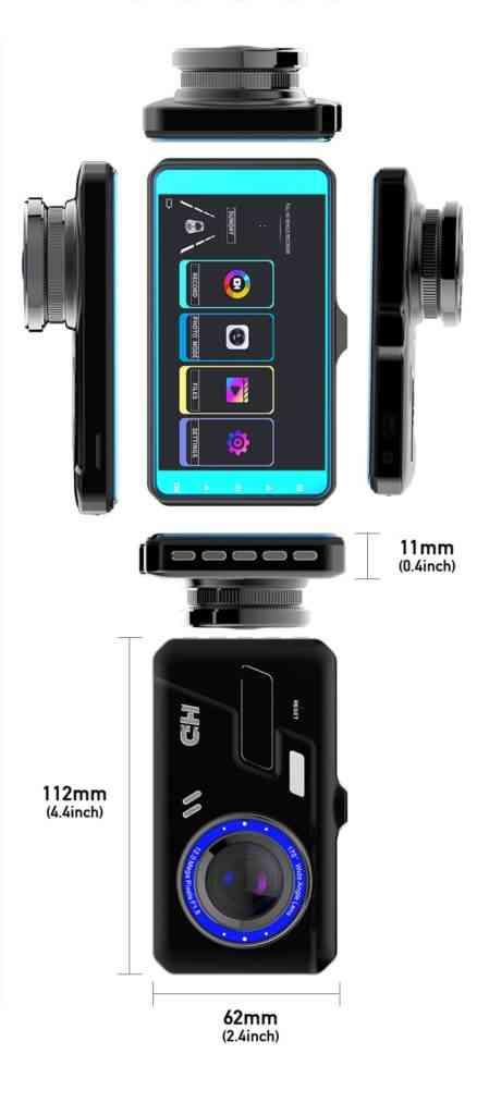 Car DVR Touch Camera