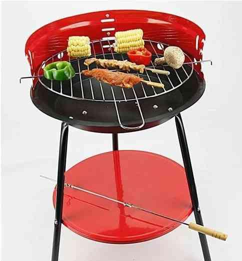 Mini oven red carbon oven outdoor BBQ grill bbq circle mini furnace trigonometric furnace grill grid furnace designfurnace element - AliExpress