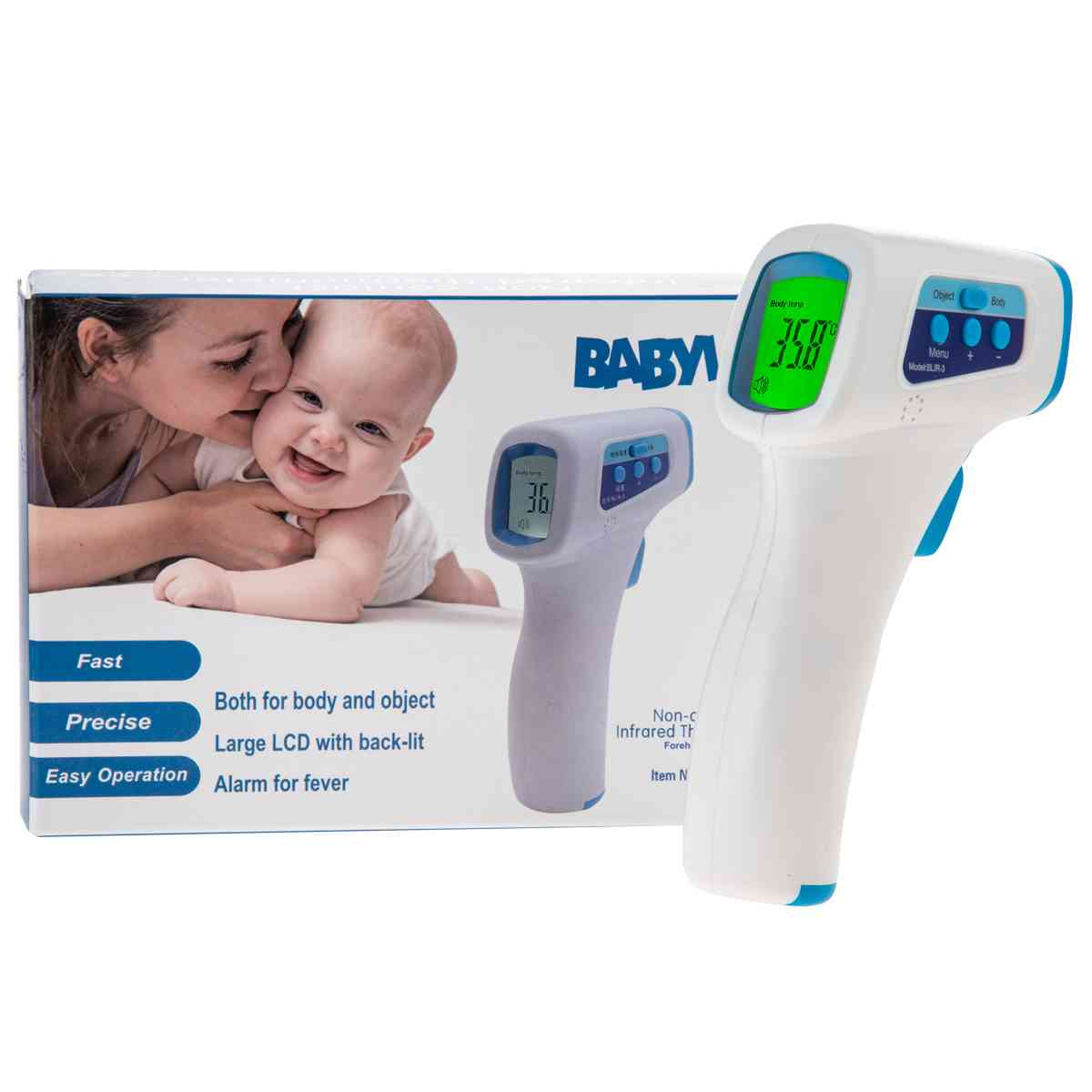 China Forehead Armpit Oral Use Manufacturer Sale Thermometer Gun Non Contact Accurate - China Infrared Forehead Thermometer, Temperature Thermometer