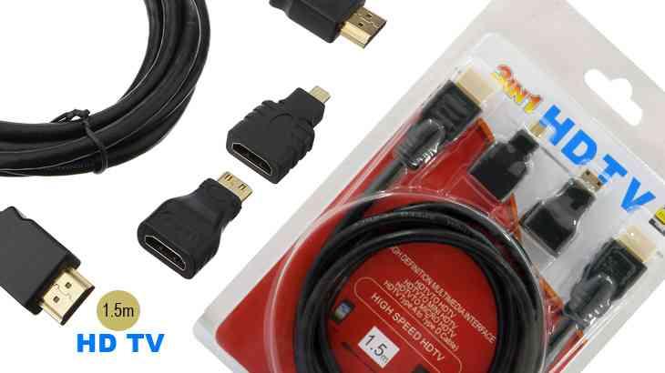 3 in 1 HDTV Cable Mini HDMI to HDMI Cable
