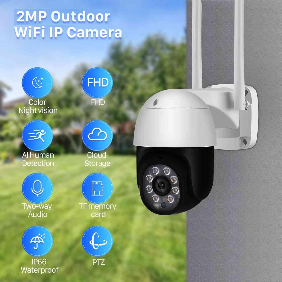 2MP Outdoor WIFI Camera